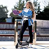 Toianshm Electric Scooter - 6' Large Wheels, Folding, Adjustable Handlebars, Rechargeable, Lightweight, for Riders up to 220 lbs, Kick Electric Scooter with Seat for Adults Youth & Kids