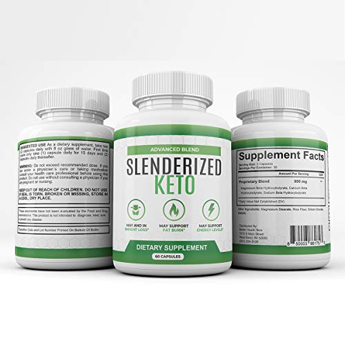 Slenderized Keto - Advanced Blend - Dietary Supplement for Weight Loss Fat Burn and Energy - 1 Month Supply 6