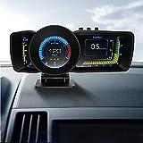 VJOYCAR Hawk 3.0 Car Dashboard Computer OBD2 Gauge HUD + Universal GPS Speedometer Digital Speed Meter RPM Coolant Oil Temperature Pressure OBDii Faulty Code Scanner