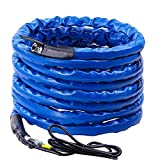 Scilulu 100FT Heated Drinking Water Hose for Rv Gardon Home with Energy Saving Thermostat,1/2' Inner Diameter Withstand Temperatures Down to-45°F-Lead and BPA Free