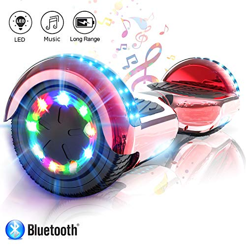 COLORWAY Hoverboard Elettrico Scooter a 6.5 Pollici & LED Auto Balance E-Skateboard