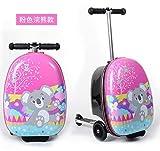Mdsfe Maleta Scooter para niños Llevar en patineta Bolsa de Equipaje Trolley Perezoso para niños - 9