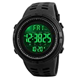 Men's Digital Sports Watch Waterproof Military Stopwatch Countdown Auto Date Alarm