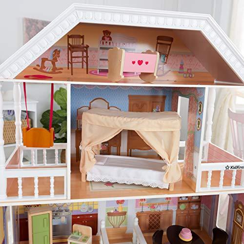 Image 1 - Kidkraft - 65023 - Maison de Poupées en Bois Savannah Incluant Accessoires et Mobilier, 4 Étages de Jeu pour Poupées 30 cm