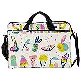 Bolsa unisex para ordenador portátil, ligera, bolsa de viaje de lona, con hebillas, diseño de frutas de verano