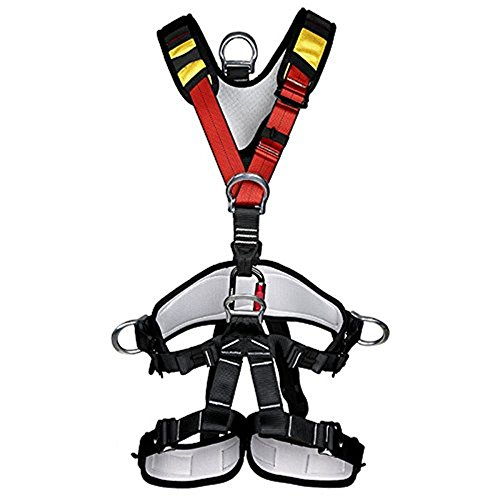 HaoFst Climbing Harness,Full Body Safety Harness Safe Seat Belt for Outdoor Tree Climbing Harness, Mountaineering Outward Band Expanding Training Caving Rock Climbing Rappelling Equip