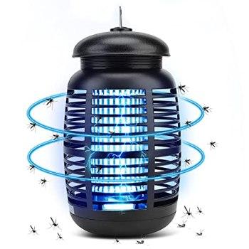 CASAMAA Lampe UV Anti Moustique 4800V, Tueur d'Insectes Électrique 15W Piège à Mouches, Destructeur d' Insectes Anti Insectes Répulsif Efficace Portée 80m² pour Intérieur et Extérieur