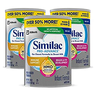 #1 BRAND FOR IMMUNE SUPPORT*: Similac Pro-Advance is the first infant formula with 2'- FL HMO** designed to be closer than over to breast milk. (*IQVIA ProVoice Survey 12 months ending February 2020; **not from human milk) VALUE SIZE/SUBSCRIBE & SAVE...