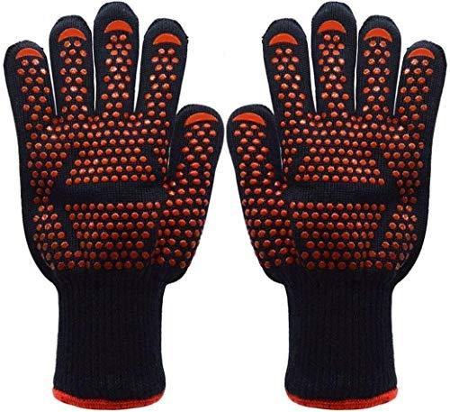 Yomi, guanti da forno per barbecue, guanti da cucina, con resistenza al calore fino a 500 C per...