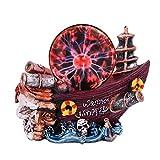 QISHENG - Lámpara de bola de plasma para velero, sensible al tacto, electrostática mágica, color rojo, bola de cristal para Navidad