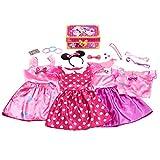 Disney Junior Minnie Mouse Bowdazzling Dress Up Trunk Set, 21 Pieces, Size 4-6x, Amazon Exclusive
