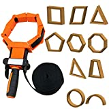 FAMKIT Woodworking Strap Clamp Adjustable Ratchet Band Clamp Miter Mitre Vise Tool for Cabinets, Drawers, Barrels