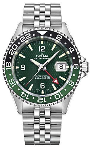 Delma Herren Uhr Quarz mit Edelstahl Armband 407052