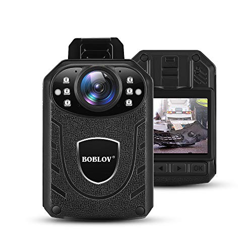 BOBLOV Body Camera 1296P Body Wearable Camera Support Memory Expand Max 128G 8-10Hours Recording Police Body Camera Lightweight and Portable Easy to Operate KJ21(Card not Included)