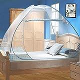 Moustiquaire de Lit Pliable, Digead Portable de voyage Moustiquaire, Double Porte Camping Mosquito...