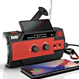 Raddy SW3 Radio Dynamo Batterie 4000mAh, Recharge Solaire Manivelle, Radio...