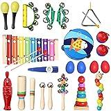 TOPERSUN 28PCS Instruments de Musique Enfant Jouets Musicaux Bois Cadeau de...