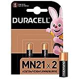 Duracell MN21 Pile Alcaline 12V, Lot de 2 ( A23 / 23A / V23GA / LRV08 /...