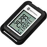 OZO Fitness SC 3D Digital Pedometer   Best Pedometer for Walking. Track Steps & Miles, Calories & Activity Time. Clip on Step Counter for Men, Women & Kids (Lanyard Included) (Black)