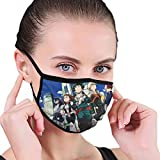 My Hero Academia Students - Unisex Anti Dust Face Mask for Girls, Reusable Dustproof Earloop Face Mouth Mask With Black Border