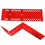WawaAuto All-Weather Foldable Auto Traction Mat Tire Grip Aid, Car Escape Mat, Non-Slip Mat, Ideal to Unstuck Your Car from Snow, Ice, Mud, and Sand (2-Pack)