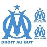 Sticker Om n°2 Logo x3 Bleu Clair 128x115 cm