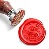 Mceal Wax Seal Stamp, Silver Brass Head with...