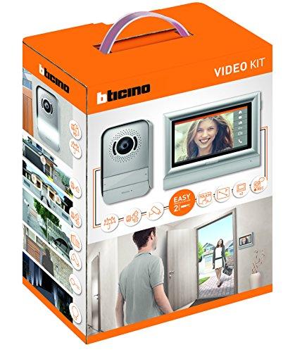 BTicino 317113 Kit Videocitofono 2 Fili Touchscreen 7' Mono/Bifamigliare, Grigio