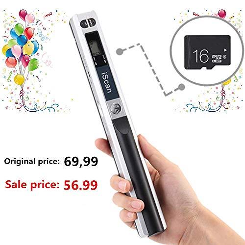 [16GB MicroSD] Scanner Portatile 900DPI per...