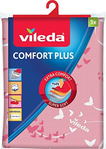 Vileda Comfort Plus Telo da Stiro, Copriasse da Stiro Universale, Triplo Strato di Cotone,...