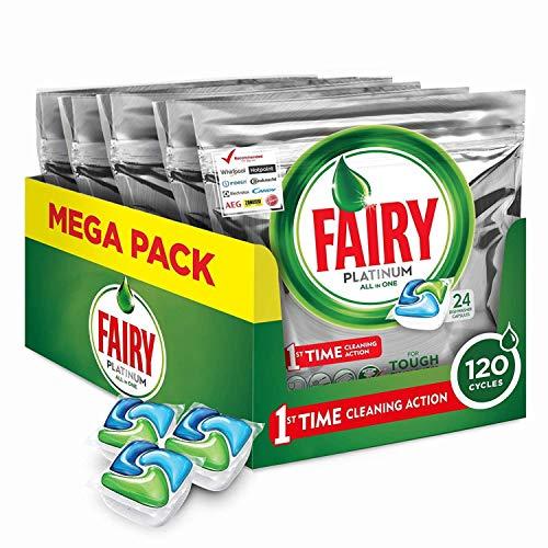 Fairy Platinum 24 Pastiglie per Lavastoviglie, Detersivo in Confezione da 24 Caps