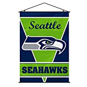 Support your favorite NFL team at home or in the office by hanging up this wall banner Designed with a plastic holder and string for easy hanging L 40-inch; W 28-inch banner Vivid Team colors