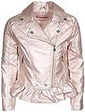 Urban Republic Toddler & Big Girls Faux Leather Motorcycle Moto Biker Jacket (14, Rose Metallic)'