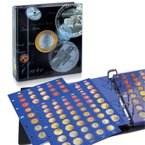 SAFE 7817 raccoglitore monete euro universale | 5 fogli portamonete da collezione inclusi per serie da 25 Euro da 1 centesimo a 2 Euro | senza capsule | 250 x 230 x 80 mm