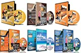 6 Disc Set Combo Pack - Best of Asia Virtual Walks and Cycling DVD Box Set for Treadmill, Elliptical Trainers and Spin Bikes Workouts