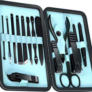 15-Piece Manicure Set for Women Men Nail Clippers Stainless Steel Manicure Kit - Portable Travel Grooming Kit - Facial… 1