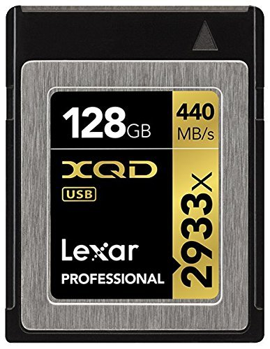 Lexar Professional 2933x 128GB XQD 2.0 Card (Up to 440MB/s Read) w/Free Image Rescue 5 Software - LXQD128CRBNA2933 並行輸入品