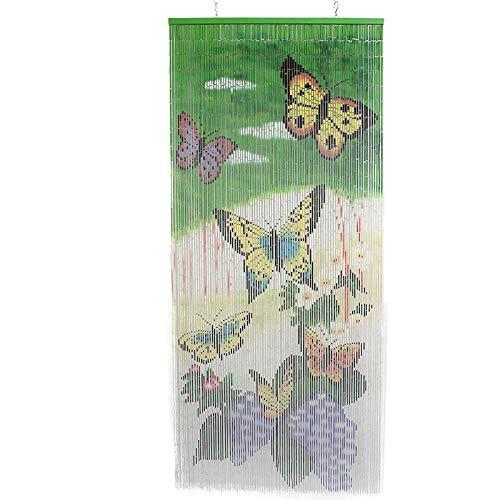SIDCO Türvorhang Bambus Vorhang Schmetterling Fliegenschutz Balkon Terrasse Vorhang