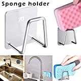 Yu2d  Stainless Steel Kitchen Sponge Holder Brush Soap Dishwashing Liquid Drainer