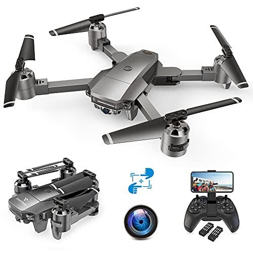 A15F 1080P Drone con Telecamera FPV, Quadricottero WiFi con Tecnologia Flusso Ottico, Modalit Segna e Traccia, Volo Circolare, G-Sensore, Adatto ai Principianti