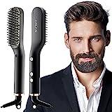 ANLAN Nuevo Cepillo Alisador de Barba con 5 Niveles de Temperatura, Cepillo Barba Electrico Plancha...