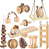 MQFORU Lot de 10 Jouets à mâcher pour Hamster, pin, cochons,...