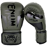 Venum Elite Boxing Gloves - Khaki/Black - 16oz