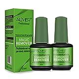 Magic Remover, 2 Piezas Removedor de esmalte de uñas Magic Gel para quitar el esmalte de uñas rápido y fácil - Sin papel de aluminio, sin envoltura, retirado de forma segura y suave sin causar daño