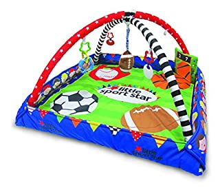 ADJUSTABLE PLAYMAT WITH MOBILE: Keep your baby happy, soothed and entertained all day! Features adjustable bars, music, ribbons, teether, textures and lots of toys and sounds. PLAY MAT FOR INFANTS: This play mat helps babies to develop hand and foot ...