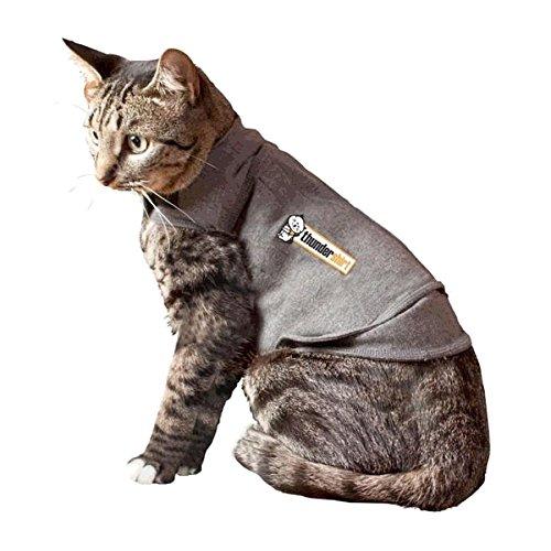 ThunderShirt Classic Cat Anxiety Jacket, Heather Gray, Medium