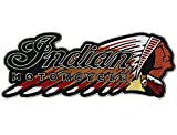 Indian Motorcycle Warbonnet Patch Headdress Iron On for Jacket Embroidered Large - by Nixon Thread Co. (11.5')