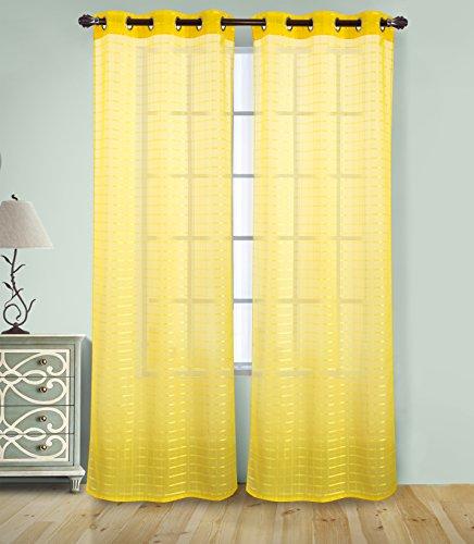 Grommet Curtain Neon Yellow