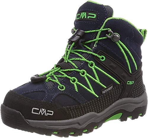 CMP Rigel Mid Wp Unisex-Kinder Trekking-& Wanderschuhe, Blau (B.Blue-Gecko), 29...