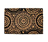 Tapis entree interieur et exterieur, paillasson antiderapant et absorbant, paillassons pour entrée en fibre de coco, tapis original de porte, 40x60 cm (Mandala)